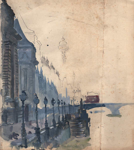 Artist Charles Cundall: The Embankment