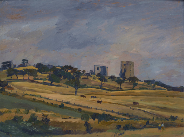 Artist Alan Sorrell: Hadleigh Castle from the West, c. 1936
