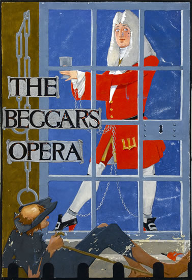 Artist Catherine Olive Moody: The beggars opera, circa 1940