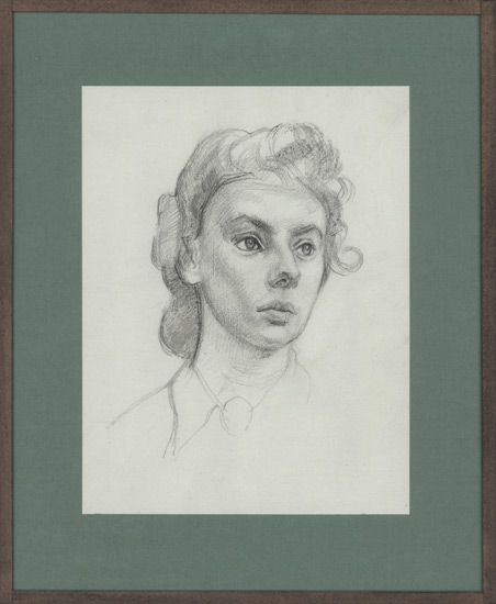 Artist Percy Horton: Portrait of Margaret Binyon