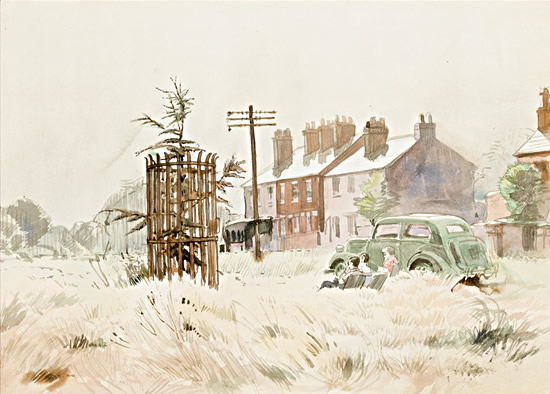 Artist Raymond Sheppard: Chipperfield Common Herts, circa 1950