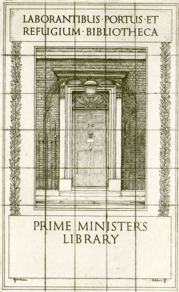 Artist Robert Austin: Book Plate for the Prime Ministers Library (large version), 1931