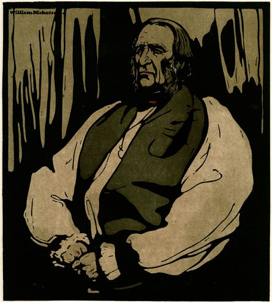 Artist William Nicholson: Dr Temple, The Archbishop of Canterbury, c.1898