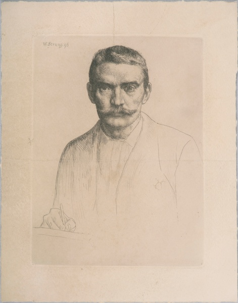 Artist William Strang: Self Portrait, 1895