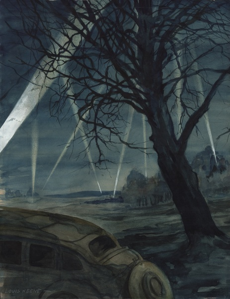 Artist Louis Keene: Alert near Aldershot during the Battle of Britain, 1940