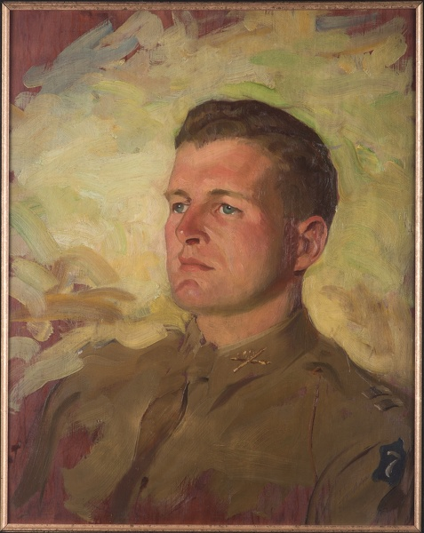 Artist Francis Edwin Hodge: Portrait of an American Captain, VII Corps, early 1940s