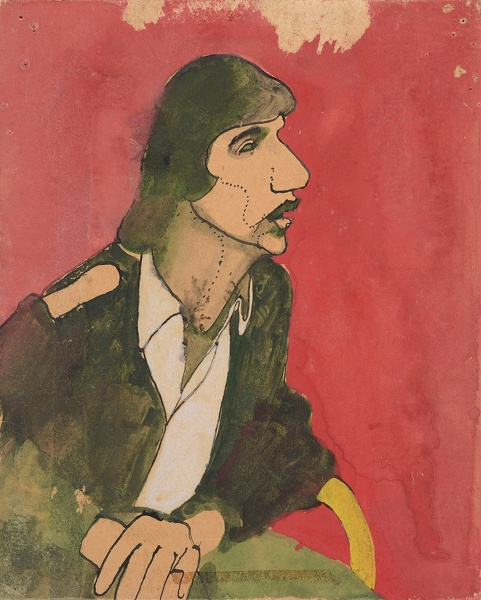 Artist David Evans: Portrait of a friend, circa 1970