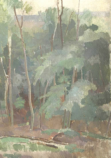 Artist Percy Horton: Birch Trees, circa 1920