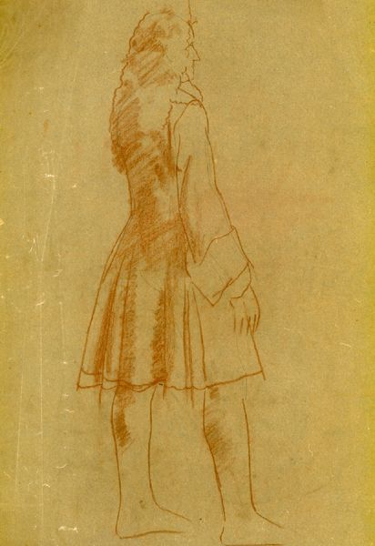 Artist Sir Thomas Monnington: Study for A Commissioner, standing full length, St. Stephens Hall, Palace of Westminster, circa 1926