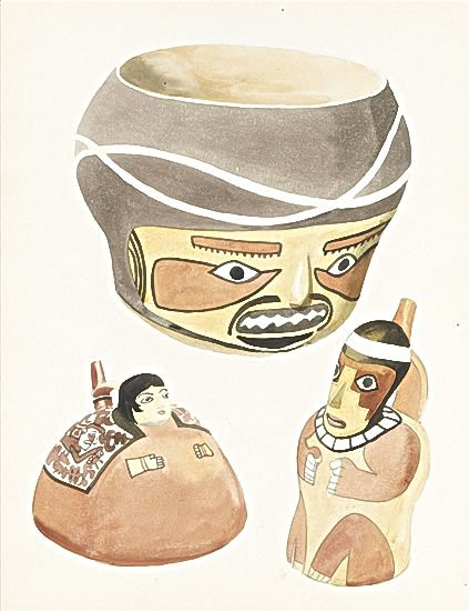 Artist Raymond Sheppard: Still life of Peublo Navaho and Avache ceramics, late 1930s