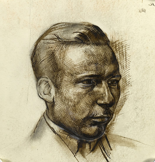 Artist Alan Sorrell: Portrait of the architect Thornton White, circa 1929