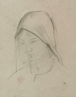 Artist Winifred Knights: Study for St Martin altarpiece, circa 1928