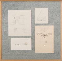 Artist Winifred Knights: Four studies, mounted as one, circa 1922