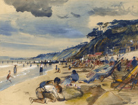 Artist Alan Sorrell: The Beach at Southend, circa 1950