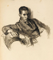 Artist Charles Mahoney: Portrait of an RCA student, circa 1926