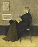 Artist James Abbott McNeill Whistler: Portrait of Thomas Carlyle, c. 1880