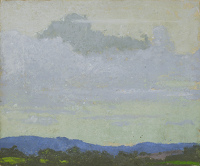 Artist Rudolph Sauter: Storm Cloud, near Dartmoor. May 1916