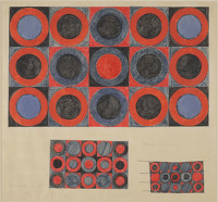 Artist Brian Rice: Design for Hooked Rug, 1965