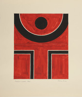 Artist Brian Rice: Red for a Monk, 1962