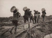 Artist Anonymous: Official photograph taken on the Western Front D 2114. The Battle of the Bridges...