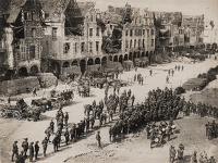 Artist Anonymous: Official photograph issued by Associated Illustration Agencies Ltd. D 2475: View on one of the squares in Arras...
