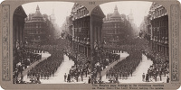 Artist Anonymous: Stereoscopic print: The Empire pays homage to its victorious warriors on Peace Day - The Lord Mayor taking the salute.