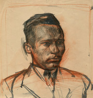 Artist Alan Sorrell: Portrait of the architect Thornton White, circa 1926
