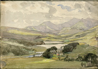 "Artist Alan Sorrell: Landscape (inscribed ""Snowdon from Capel Curig)"