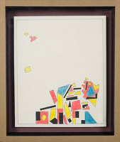 Artist Sir Thomas Monnington: Fragmented shapes, circa 1970