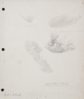 Artist Sir Thomas Monnington: Exploding bombs and rockets, study for Clouds and Spitfires