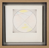 Artist Sir Thomas Monnington: Geometric design, late 1960s