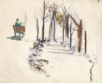 Artist Charles Cundall: In the Tuileries Gardens