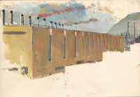 Artist Charles Cundall: The Steel Company of Wales, Abbey Works Port Talbot I