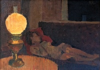 Artist Kenneth Rowntree: Lamplight, 1945