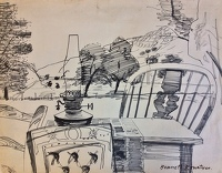 Artist Kenneth Rowntree: Levisham drawing