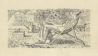Artist Evelyn Dunbar and Charles Mahoney: Design for page 181, Gardeners Choice 1937