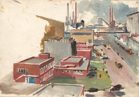 Artist Charles Cundall: Abbey Works Port Talbot