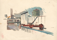 Artist Charles Cundall: Steel Company of Wales, Abbey Works Port Talbot III