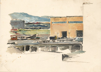 Artist Charles Cundall: Steel Company of Wales, Abbey Works Port Talbot