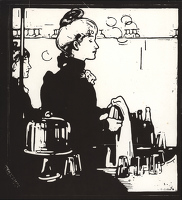 Artist William Nicholson: Barmaid (Any Bar); 1898