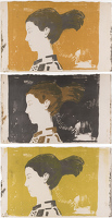 Artist William S Taylor: Profile Head, 1952 - set of 3