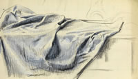 Artist Alfred Reginald Thomson: Study of a table cloth