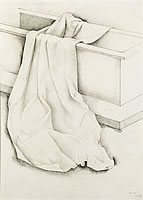 Artist Anne Newland: Cloth draped over a chest, 1939
