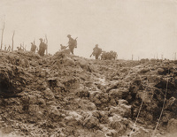 Artist Anonymous: Official photograph taken on the Western Front: C.2224 The Battle of Flanders...
