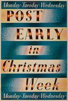Artist Barnett Freedman: Post Early in Christmas Week, 1937