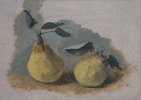 Artist Carolyn Sergeant: Two Pears, 1995