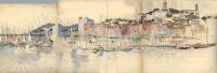 Artist Charles Cundall: Le Suquet at Cannes