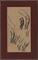 Artist Charles Mahoney: Study of a lower arm