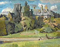 Artist Charles Mahoney: Ambleside, possibly the waterhead hotel, circa 1942