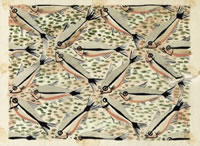 Artist Dorothy Mahoney: Design for Screen Print on Silk, Dress Fabric, mid 1920s